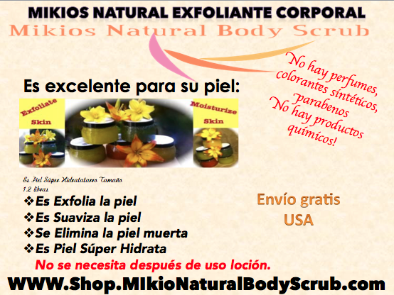 Mikios Natural Body Scrub En Espanol